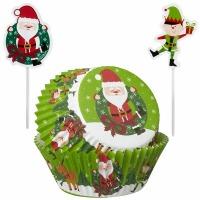 Santa Pics Baking Cups 24 CT