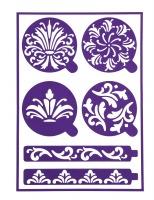 Scrolls Adhesive Stencils