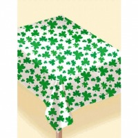 Shamrocks Flannel Table Cover