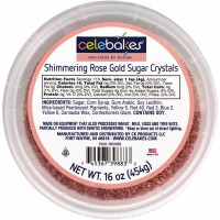 Celebakes 16 oz. Shimmering Rose Gold Sugar Crystals