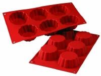 Silicone Mold Brioche 3.7oz  6 CAV