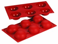 Silicone Mold Hemisphere 2.7oz 6CAV
