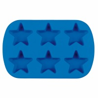 Silicone Mini Stars Mold 6 cav