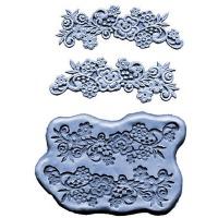 Silicone Mold Flower w/Scrolls