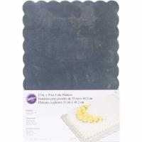 "Wilton Silver Cake Platter 13""X9"" - 4 Pack"