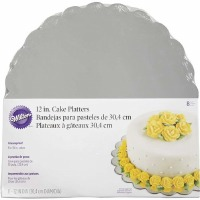 "Wilton Silver Cake Platters 12"" - 8 Pack"