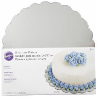 "Wilton Silver Cake Platters 14"" - 6 Pack"
