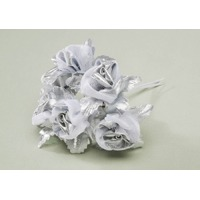 Silver Flower Spray w/ Pearls
