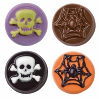 Skulls/Scrolls Cookie Candy Mld
