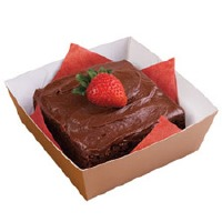 Small Square Treat Basket 6 Count