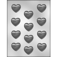 "1-5/8"" Smooth Heart (12) Candy Mold"