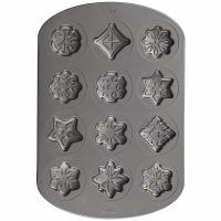 Snowflake Stars Cookie Pan 12
