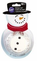 Snowman Baking Cups 50 CT