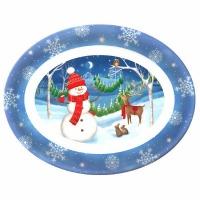 Snowman Oval Platter