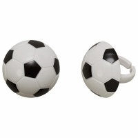 Soccer Ball Cupcake Ring12 CT