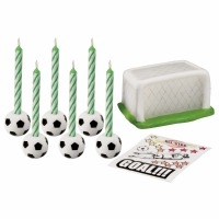 Soccer Decal Candle Set