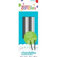 Sparkler Candles B&W 18 CT
