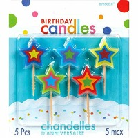 Star Candles Set of 5