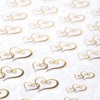 Stickers - Gold Hearts 53 CT