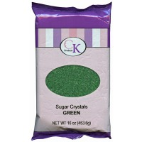 Sugar Crystals 16 OZ Green