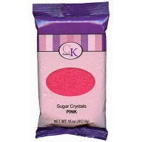 Sugar Crystals 16 OZ Pink