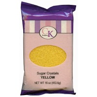 Sugar Crystals 16 OZ Yellow