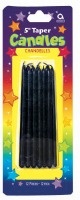 Thin Candles - Black 12 CT