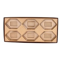 Brown Box Clear Lid 6 Cavity