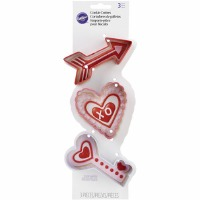 Valentine Arrow Cookie Cutter Set 3PC