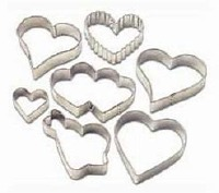 Valentine Heart Cutter Set 7