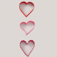 Valentine Hrts  3pc Cutter Set