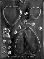 Wedding Heart Box Candy Mold