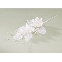 White Flower Spray w/ Pearls