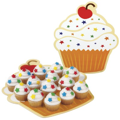 Cake Board Cupcake 3 Count
