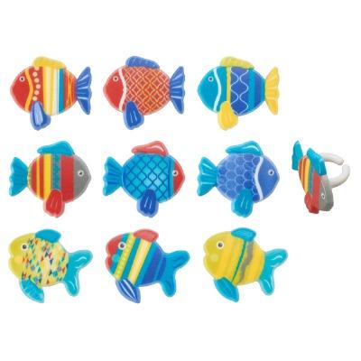 Urban Fish Cupcake Rings 12ct