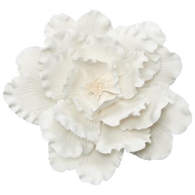 White Peony Gum Paste Flower