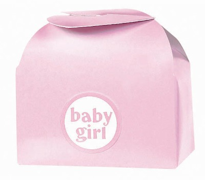 Wing Top Favor Box Pink 24 CT