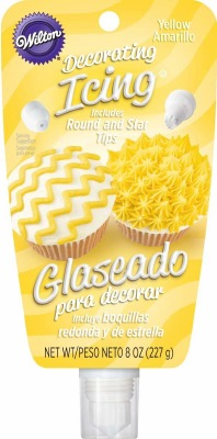 Icing Pouch With Tips Yellow