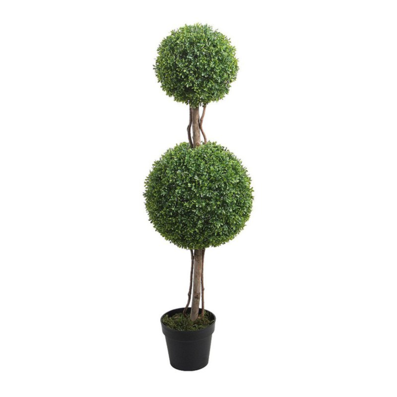 Boxwood Double Ball Topiary Tree - 47""