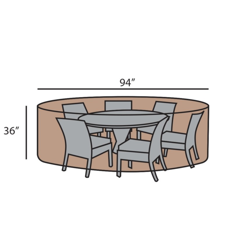 """94"""" Round Dining Set Cover"""