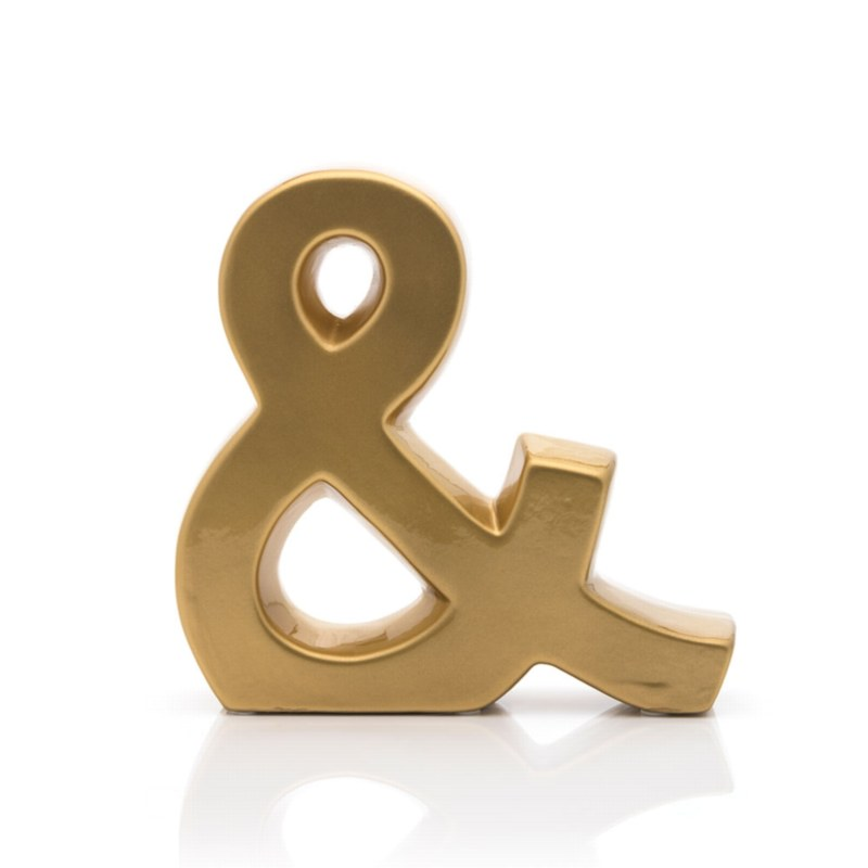 Ceramic Ampersand  Decoration