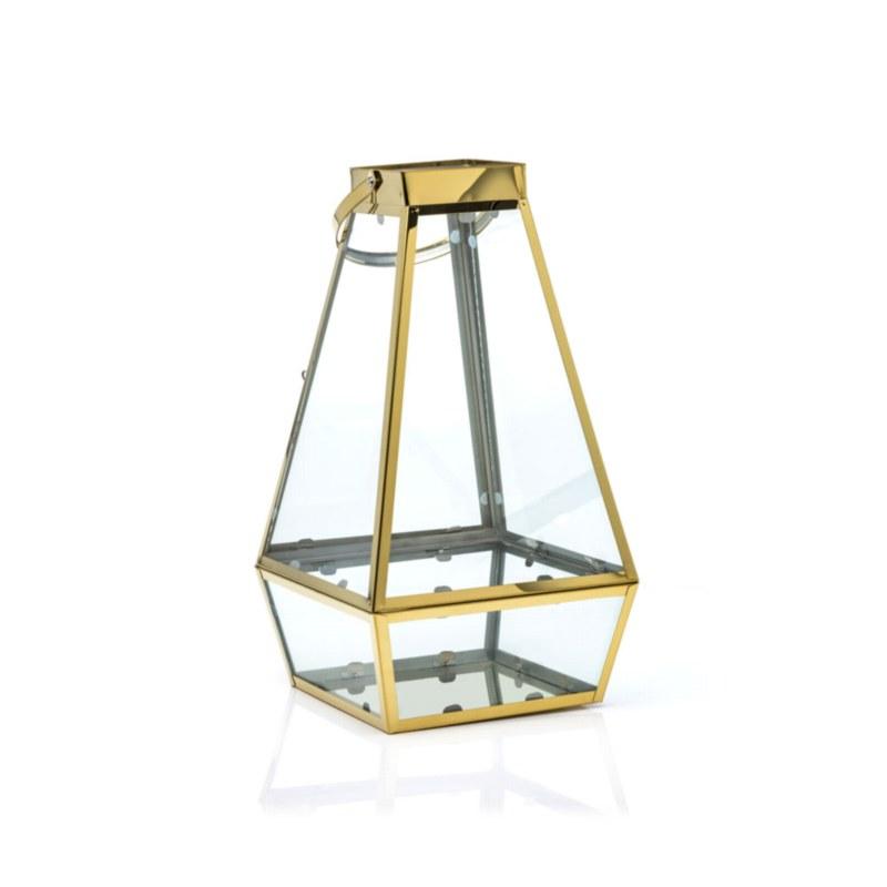 Gold Stainless Steel Lantern