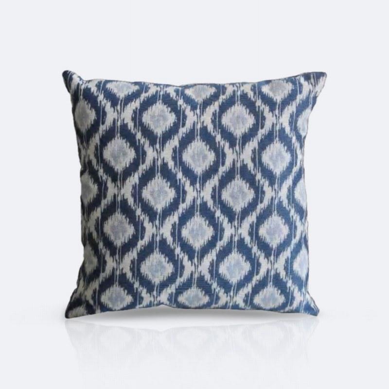 Throw Pillow - Blue Diamonds
