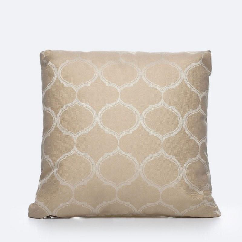 Throw Pillow - Beige Print