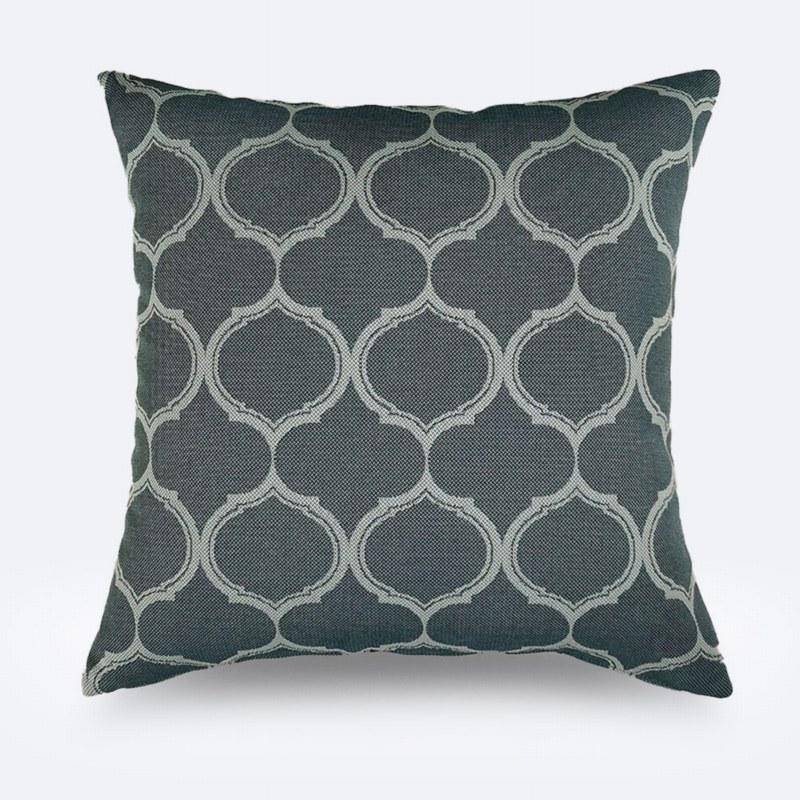 Throw Pillow - Dark Green Print
