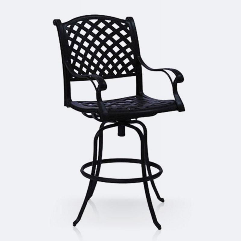 Reel Weave Swivel Bar Chair