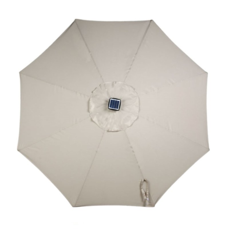9' Umbrella with Solar Lights