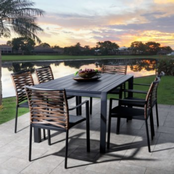 Horizon Dining Set - 6 Chairs