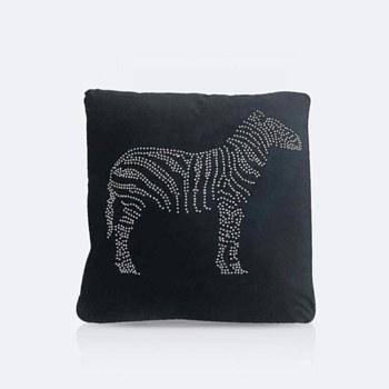 Throw Pillow - Rhinestone Zebra