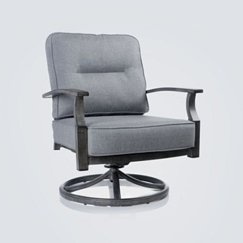 Belvedere Aluminum Swivel Club Chair